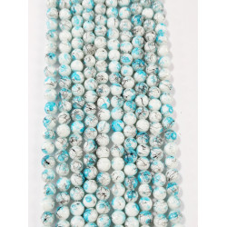 6 strands of glass beads in 10mm,  each 38pcs#061810