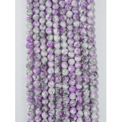 6 strands of glass beads in 10mm,  each 38pcs#061812