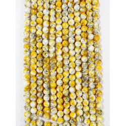6 strands of glass beads in 10mm,  each 38pcs#061813