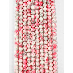6 strands of glass beads in 10mm,  each 38pcs#061815