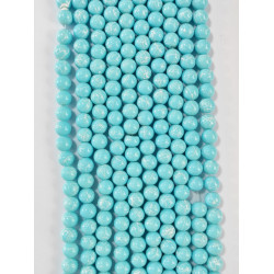 6 strands of glass beads in 10mm,  each 38pcs#061817