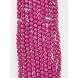 6 strands of glass beads in 10mm,  each 38pcs#061818