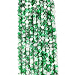 6 strands of glass beads in 10mm,  each 38pcs#061820