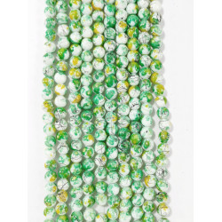 6 strands of glass beads in 10mm,  each 38pcs#061821