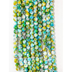 6 strands of glass beads in 10mm,  each 38pcs#061822