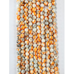 6 strands of glass beads in 10mm,  each 38pcs#061824