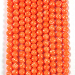 6 strands of glass beads in 10mm,  each 38pcs#061827