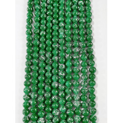 6 strands of glass beads in 10mm,  each 38pcs#061828