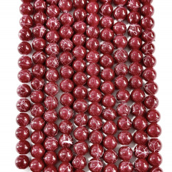 6 strands of glass beads in 10mm,  each 38pcs#061829
