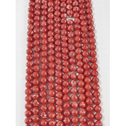 6 strands of glass beads in 10mm,  each 38pcs#061830
