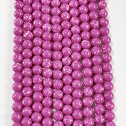 6 strands of glass beads in 10mm,  each 38pcs#061831