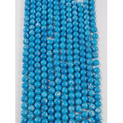 6 strands of glass beads in 10mm,  each 38pcs#061832