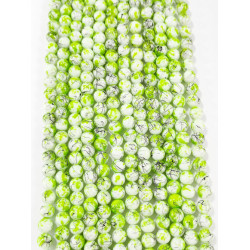 6 strands of glass beads in 10mm,  each 38pcs#061833