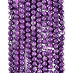 6 strands of glass beads in 10mm,  each 38pcs#061834
