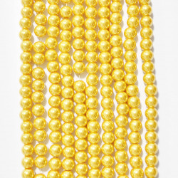 6 strands of glass beads in 10mm,  each 38pcs#061836