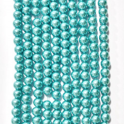 6 strands of glass beads in 10mm,  each 38pcs#061837
