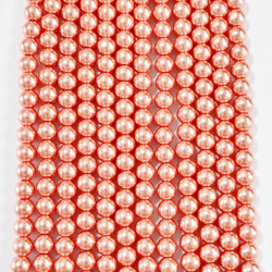 6 strands of glass beads in 10mm,  each 38pcs#061839