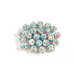 50pcs mixed color clay ball charms  10mm#061003