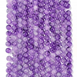 060531# 6 strands of glass beads in 10mm, each 38pcs