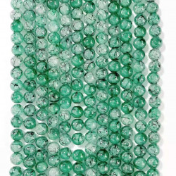060518# 6 strands of glass beads in 10mm, each 38pcs