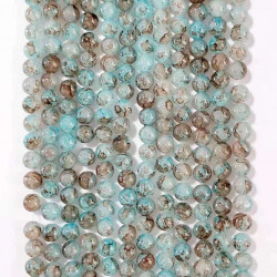 060522# 6 strands of glass beads in 10mm, each 38pcs