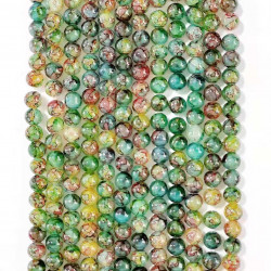 060525# 6 strands of glass beads in 10mm, each 38pcs