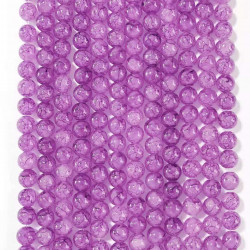 060526# 6 strands of glass beads in 10mm, each 38pcs