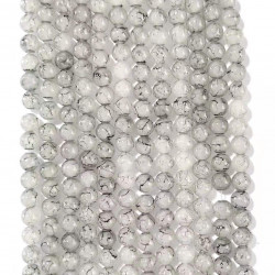 060528# 6 strands of glass beads in 10mm, each 38pcs