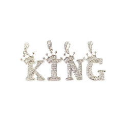 4pcs letter charms charm set-king as picture shows