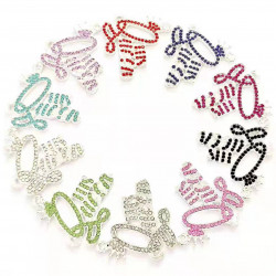 10pcs letter charms-queen-silver #052504
