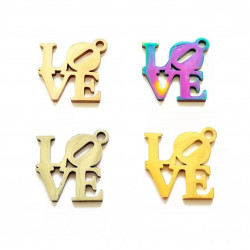 20pcs stainless steel charms-love