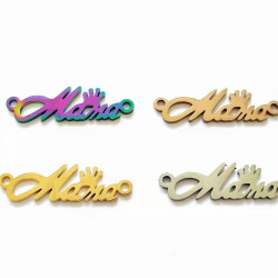 20pcs stainless steel charms-mama