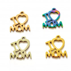 20pcs stainless steel charms-I love mom