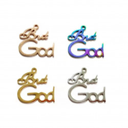 20pcs stainless steel charms-But God