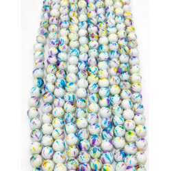 4125# 6 strands glass beads in 10mm,  each38pcs