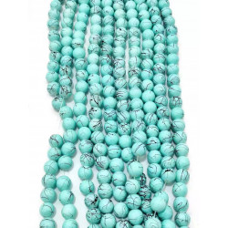 4124# 6 strands glass beads in 10mm,  each38pcs