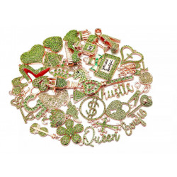 4117# 35pcs charming charms rhinestone charms for jewelry making