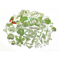 4119# 35pcs charming charms rhinestone charms for jewelry making