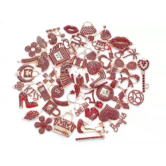 #4079 50PCS MIXED DELICATE GIRLS CHARMS fashion items