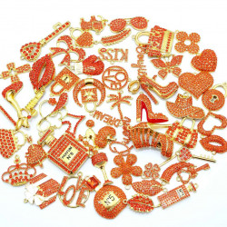 #3942 50PCS MIXED DELICATE GIRLS CHARMS  picked at random