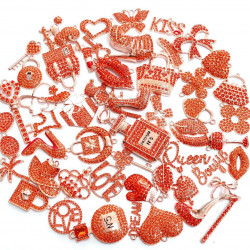 #3943 50PCS MIXED DELICATE GIRLS CHARMS  picked at random