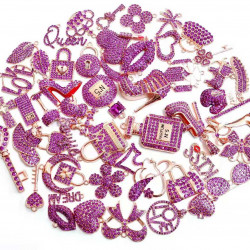 #3945 50PCS MIXED DELICATE GIRLS CHARMS  picked at random