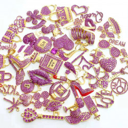 #3946 50PCS MIXED DELICATE GIRLS CHARMS  picked at random