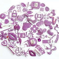 #3947 50PCS MIXED DELICATE GIRLS CHARMS  picked at random