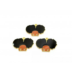 10pcs girl charms  lady charms half face gold