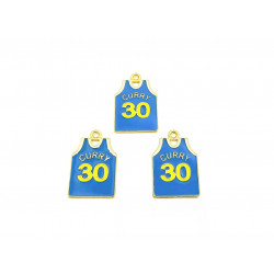 10pcs sport shirts charms curry 30 gold