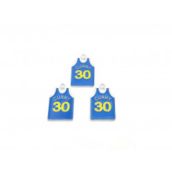 10pcs sport shirts charms curry 30 silver