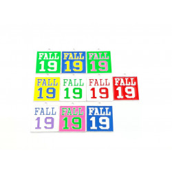 #10pcs letter charms-FALL 19 SILVER