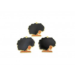 10pcs girl charms  lady charms side face gold