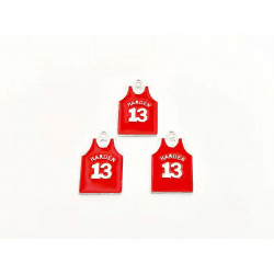 10pcs sport shirts charms harden 13 silver